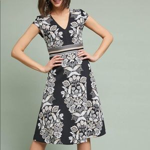 Anthropologie Soiree Embroidered Dress